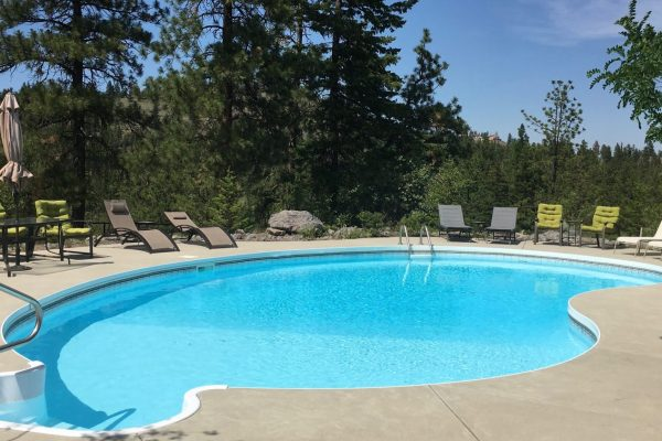 Our beautiful heated pool